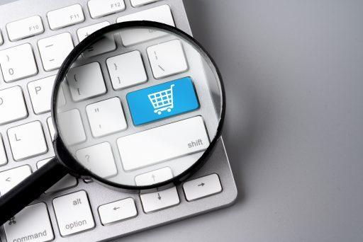 Tecla teclado con carro compras